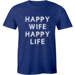 Happy Wife Happy Life Funny Husband Gift T-shirt